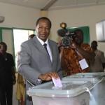 Le vote de Blaise Compaoré