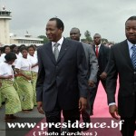 Les présidents Blaise Compaoré (à gauche) et Faure Gnassingbé.