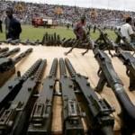 Ici,des armes qui ont circulé en Côte d'Ivoire et dont le contrôle a suscité des troubles à la sécurité.