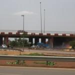 L'échangeur de Ouaga 2000,le premier des 3 échangeurs réalisé à Ouagadougou.