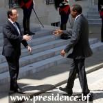 Les présidents burkinabè et français pour une lutte  efficace contre l'insécurité en Afrique.