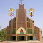 Basilique-mineure-Notre-Dame-de-Yagma près de Ouagadougou au Burkina Faso.