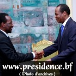 Visite d'amitié du Président par intérim de la République du Mali au Burkina Faso .