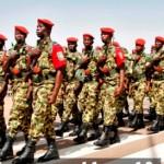 Une parade de militaires burkinabè le 1er Novembre 2013 à Ouagadougou,lors de la célébration du 53è anniversaire de l'armée nationale.
