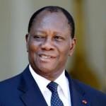 Alassane Ouattara, le président de la Côte d'Ivoire. REUTERS/Charles Platiau