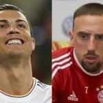 Le Portugais Cristiano Ronaldo (à gauche) et le Français Franck Ribéry. Reuters/Andrea Comas/Fadi Al-Assaad - Montage/RFI