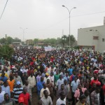 LA MARCHE DE L'OPPOSITION LE 18 JANVIER 2014 CONTRE LA MODIFICATION DE LA CONSTITUTION A OUAGADOUGOU. PHOTO:Labor pictures.