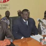 Me Benewendé Stanislas SANKARA( au centre),président de l'UNIR/PS.