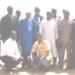 Les députés du groupe parlementaire ADJ au bord du barrage de Yakouta à proximité de Dori.
