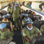 Des soldats burkinabè du bataillon Badenya 1pour le maintien de la paix au Mali.
