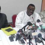 Les deux co-présidents du Front Republicain:Hermann Yaméogo et Assimi Kouanda(de gauche à droite).
