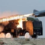 Lancement d'un missile iranien Saeqeh dans le sud de l'Iran, près du détroit d'Ormuz, en avril 2010.