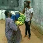 Des bananes comme cadeaux de la St Valentin.No comment !