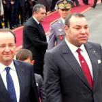 Le roi du Maroc Mohammed VI et le président français Hollande à Casablanca.Photo RFI / Florent Guignard