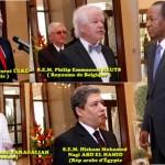 Hüsnü Murat Ülkü, de la République de Turquie, Philip Emmanuel Heuts, du Royaume de Belgique, Idriss Ismail Faragallah, de la République du Soudan et enfin Hisham Mohamed Nagi Abd El Hamid, de la République arabe d'Egypte.
