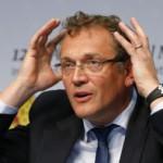 Le secrétaire général de la Fédération internationale de football, Jérôme Valcke, lors d'une conférence de presse à Zurich, le 1er mars 2014.
