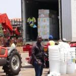 Un camion de Médecins Sans Frontières avec des médicaments d'urgence, en Guinée-Conakry où des cas de fièvre Ebola se sont déclarés.REUTERS/Saliou Samb.