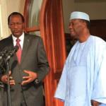 Blaise Compaoré(à gauche) et Alassane Ouattara