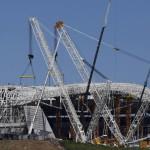 Le chantier du stade Arena Corinthians, à Sao Paulo, en mars 2014.REUTERS/Paulo Whitaker