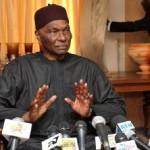 Abdoulaye Wade, peu après sa défaite à la présidentielle, en mai 2012.AFP PHOTO / SEYLLOU