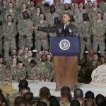 Barack Obama, sur la base de Bagram en Afghanistan.REUTERS/Jonathan Ernst