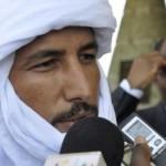 Bilal ag Achérif, chef de la rebellion touarègue du MNLA, reçu à Paris, le 23 novembre 2012.AFP PHOTO/AHMED OUOBA