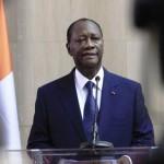 Le président ivoirien Alassane Ouattara à Abidjan, le 2 mars 2014.REUTERS/Thierry Gouegnon