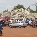 Un immeuble de 4 étages effondré en 2014 à Ouagadougou par le non respect des normes de qualité en matière de construction et par l'appât du gain rapide par des propriétaires immobiliers impunis de la 4 è république.