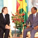 Monsieur Bert » Koenders(à gauche) et Blaise Compaoré.