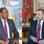 Le président du Faso,SEM Blaise Compaoré(à gauche) et sa Majesté le Roi Mohamed VI du Maroc.