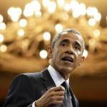 Barack Obama, durant son discours aux 500 jeunes entrepreneurs africains.REUTERS/Larry Downing