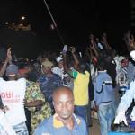 Le Président du Faso, Blaise Compaoré a été chaleureusement accueilli par une foule en liesse dans la nuit du samedi 9 août 2014 à l'aéroport de Ouagadougou.