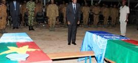 LE PRÉSIDENT DU FASO REND HOMMAGE AUX DEUX SOLDATS BURKINABÈ TUÉS AU MALI