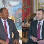 Le président Blaise Compaoré (à gauche) et le roi Mohamed VI .
