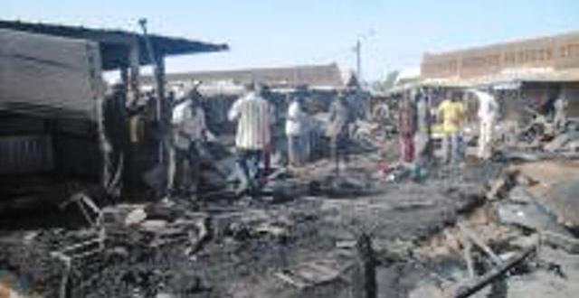 Incendies au marché central de Léo  24 boutiques parties en fumées