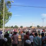 La place de la Nation refusait déjà du monde avant l'heure indiquée (8 h TU) pour le rassemblement des manifestants.