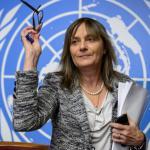 Le Dr Marie-Paul Kieny, directrice générale adjointe de l'OMS en charge du département traitements et vaccins, espère une première campagne de vaccination en juin. FABRICE COFFRINI / AFP