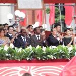 Protocole officiel mis en place et présidé par Wang Jin-pyng, en sa qualité de Président du Parlement, accueil des invités d'honneur avec, cette année, dans la tribune présidentielle parée aux couleurs nationales, le président du Faso, SEM Blaise Compaoré, son épouse, Mme Chantal Compaoré et d'autres personnalités dont le chef de l'Etat du Paraguay.