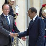 Blaise Compaoré (D) accueilli à l'Elysée par François Hollande, le 18 septembre 2012.Photo AFP / Bertrand Langlois