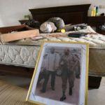 La chambre du «commandant Tracteur» mise à sac après son arrestation, vendredi 19 décembre. AFP PHOTO / SIA KAMBOU