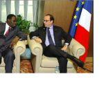 Michel Kafando et François Hollande.
