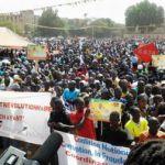 La foule à la Place de la Nation de Ouagadougou le 13 décembre 2014 pour commémorer le 16 è anniversaire de l'assassinat du journaliste Norbert Zongo.