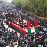 Cortège funèbre des martyrs de l'insurrection populaire des 30 et 31 octobre 2014 au Burkina Faso.