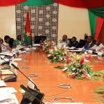 Le gouvernement ZIDA I  de transition en conseil des ministres.