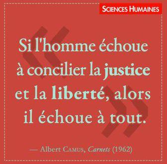 Sciences humaines : proverbe d'Albert Camus