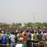 Un meeting de soutien à la transition le 25 avril 2015 à la place de la révolution à Ouagadougou.