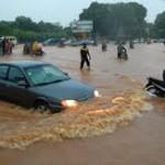 Une image d'archives de l'historique inondation du 1er septembre 2009 à Ouagadougou.