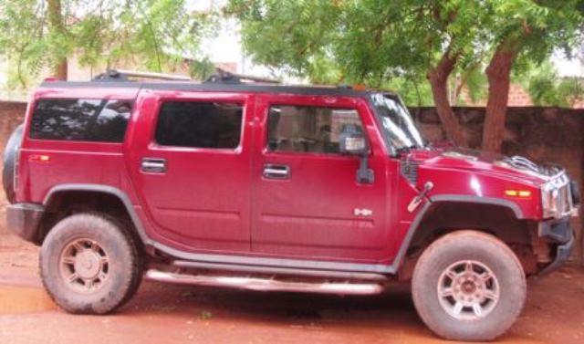 La voiture Hummer de Boukary Ouédraogo.