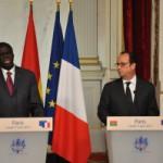 Michel Kafando s'est entretenu le 1er  juin 2015, avec son homologue français François Hollande.