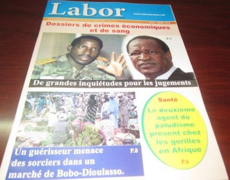Le journal  trimestriel Labor N°16 en vente au Burkina Faso au prix de 1.000 FCFA.